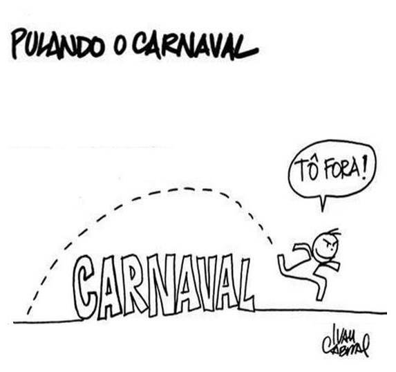 Charge do carnaval