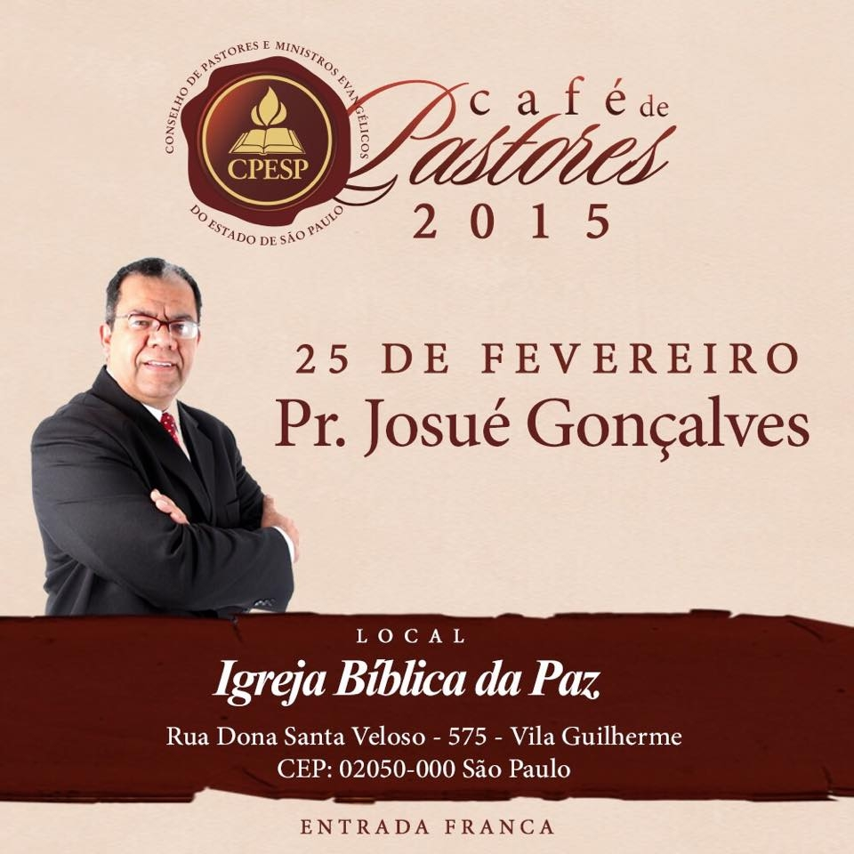 Josué Gonçalves é pastor sênior do Ministério Família Debaixo da Graça - Assembleias de Deus em Bragança Paulista (SP)