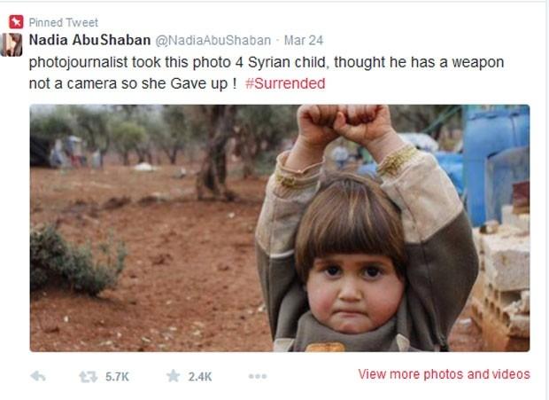 Criança síria rendida