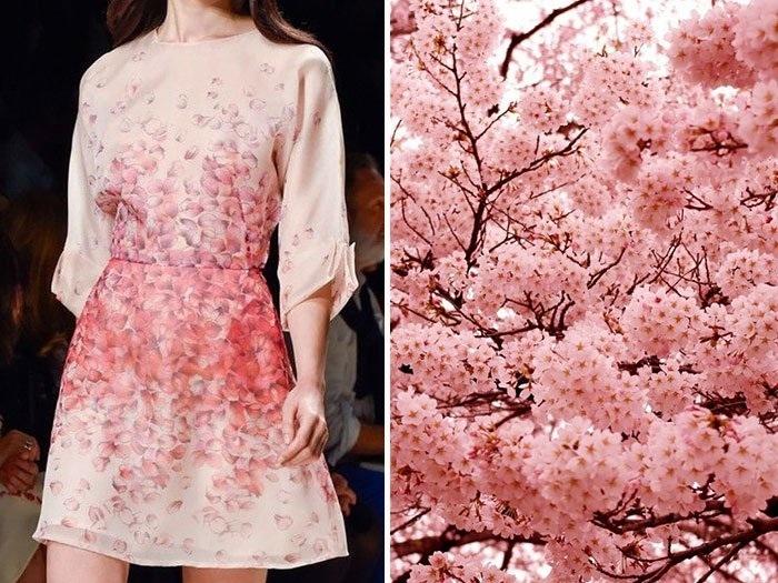 Vestido inspirado na natureza