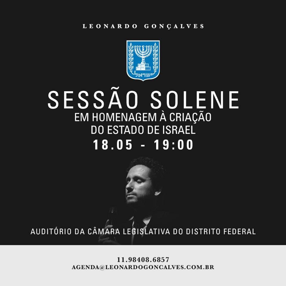 Sessão Solene com Leonardo Gonçalves