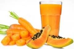 Shake de mamão e cenoura