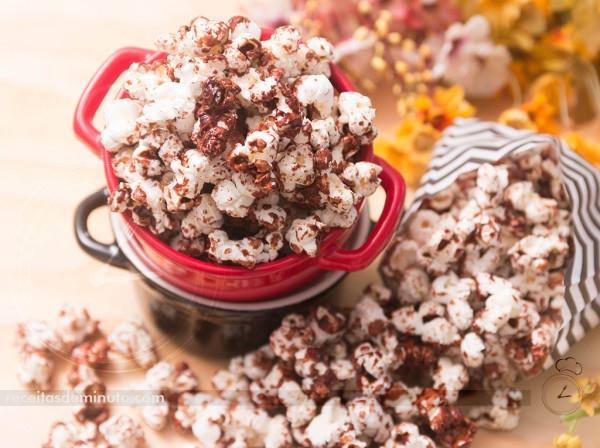 Pipoca de Chocolate de Microondas