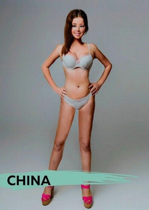 corpo mulher chinesa