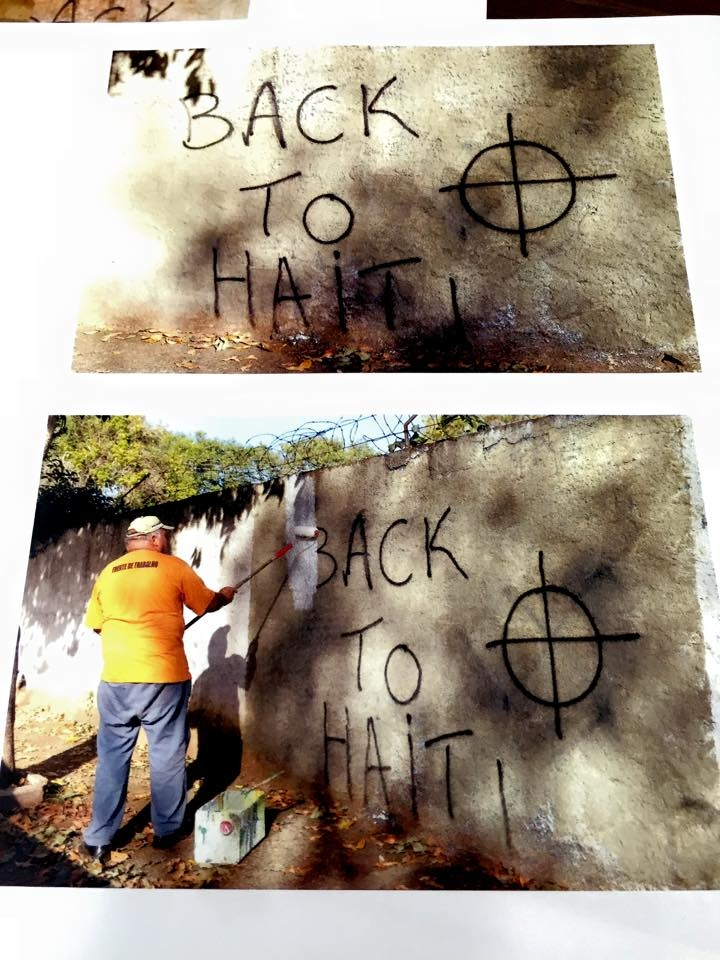 Muro pichado: Back to Haiti