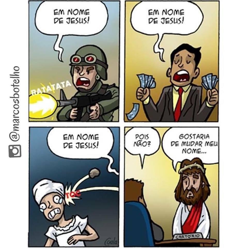 Tirinha _ em nome de Jesus