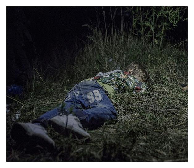 Criança síria dormindo